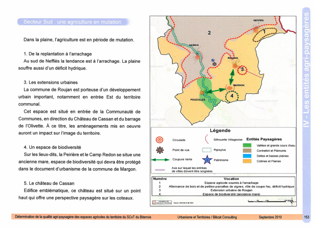 Document SCoT Biterrois - Neffiès - analyse du projet exposé par la Mairie