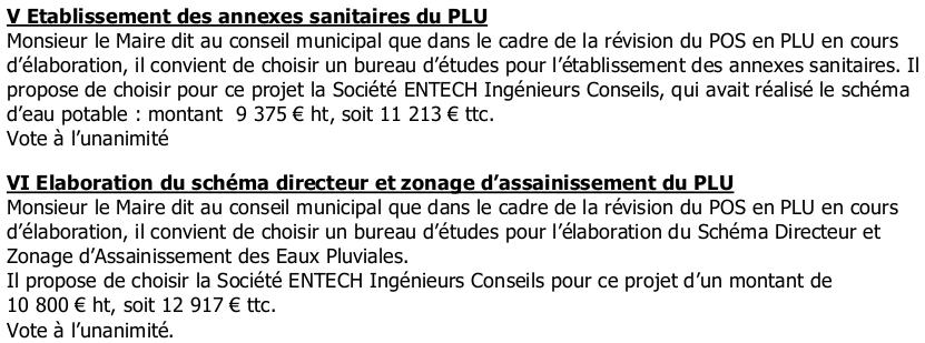 PLU-Suppléments étude PLU