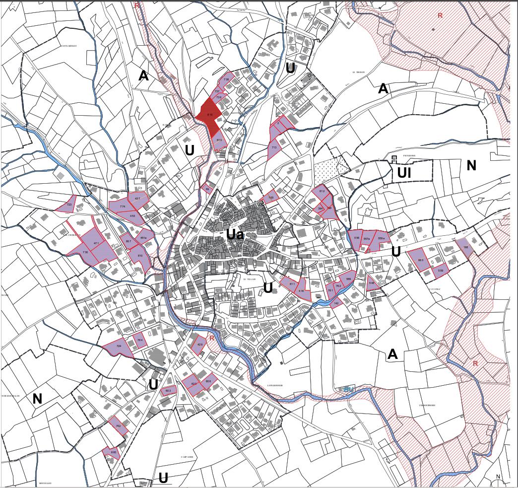 Analyse du PADD présenté par la mairie - Dents creuses répertoriées dans l'étude municipale